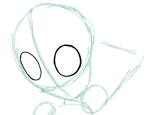 Step 2 : Drawing Beast Boy from Teen Titans Step by Step Tutorial