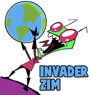 How to Draw Invader Zim with World in His Hands Step by Step Drawing Lesson