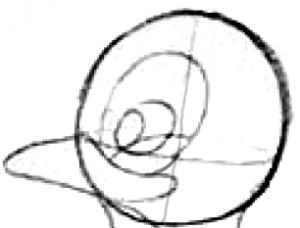Step 3 : Drawing Comic Penguins Step by Step Tutorial