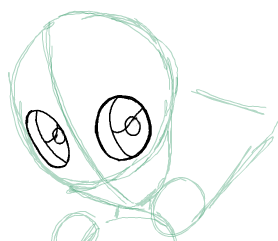 Step 3 : Drawing Beast Boy from Teen Titans Step by Step Tutorial