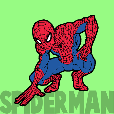How To Draw Spiderman With Simple Steps Drawing Tutorial How To