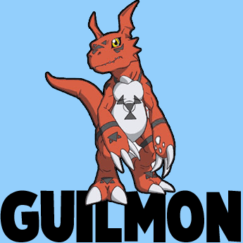 How to Draw Guilmon from Digimon in Easy Step by Step Drawing Tutorial