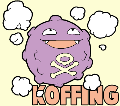 How to draw koffing from pokemon in easy step by step drawing lesson