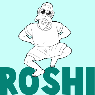 How to Draw Master Roshi from Dragon Ball Z in Step by Step Drawing Tutorial