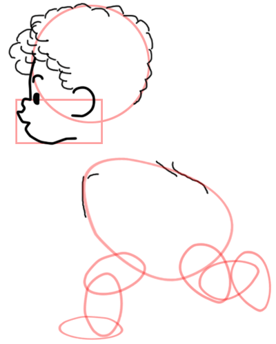 Step 4 : Drawing Baby Cupid Step by Step Tutorial