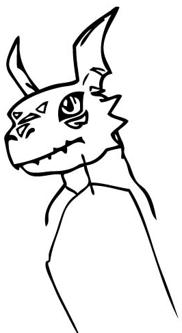 Step 5 : Drawing Guilmon from Digimon Step by Step Lesson for Kids