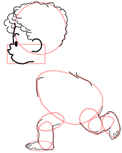 Step 5 : Drawing Baby Cupid Step by Step Tutorial