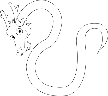Step 5 Drawing Cartoon Chinese Dragons in Easy Steps Tutorial for Kids