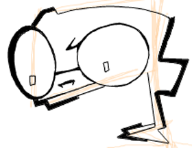 Step 5 : Drawing Dib from Invader Zim Easy Steps Lesson