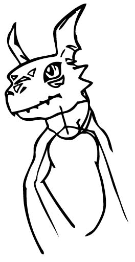 Step 6 : Drawing Guilmon from Digimon Step by Step Lesson for Kids