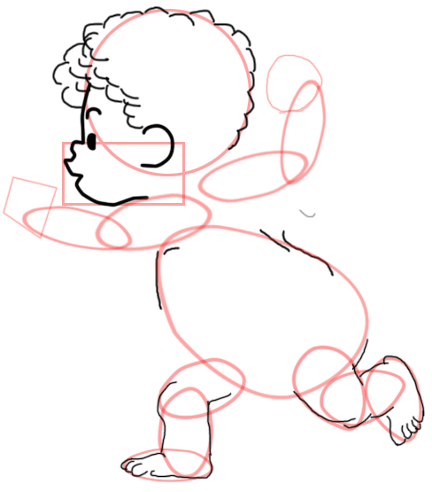 Step 6 : Drawing Baby Cupid Step by Step Tutorial