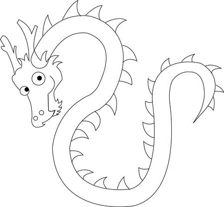 Step 6 Drawing Cartoon Chinese Dragons in Easy Steps Tutorial for Kids