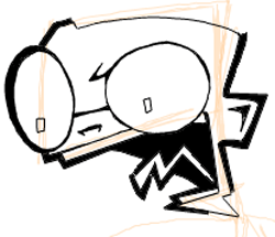 Step 6 : Drawing Dib from Invader Zim Easy Steps Lesson