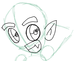Step 6 : Drawing Beast Boy from Teen Titans Step by Step Tutorial
