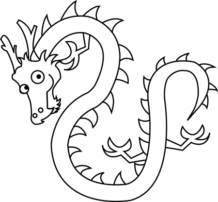 Step 7 Drawing Cartoon Chinese Dragons in Easy Steps Tutorial for Kids