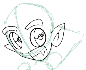 Step 7 : Drawing Beast Boy from Teen Titans Step by Step Tutorial