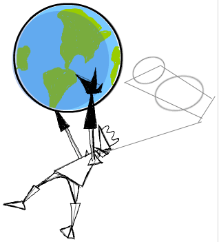 Step 8 : Drawing Invader Zim Conquering the World Tutorial