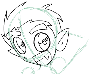 Step 8 : Drawing Beast Boy from Teen Titans Step by Step Tutorial