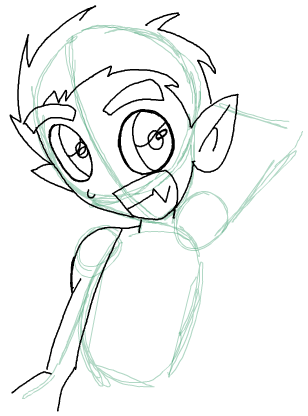 Step 9 : Drawing Beast Boy from Teen Titans Step by Step Tutorial