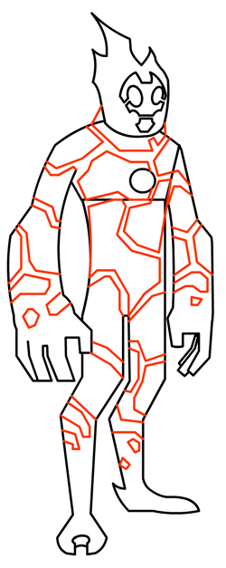 How to Draw Heatblast Alien from Ben 10 with Step by Step Drawing