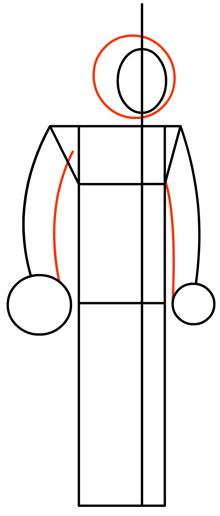 Step 3 : Drawing Heatblast in Easy Steps Tutorial for Kids