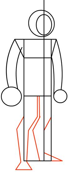 Step 4 : Drawing Heatblast in Easy Steps Tutorial for Kids