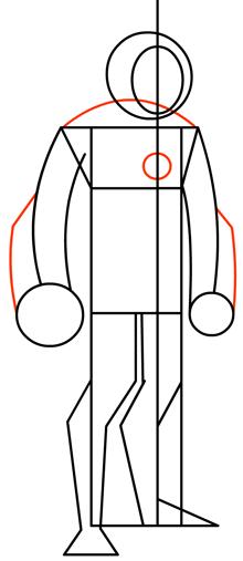 Step 5 : Drawing Heatblast in Easy Steps Tutorial for Kids