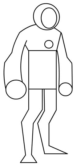 Step 6 : Drawing Heatblast in Easy Steps Tutorial for Kids