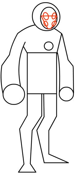 Step 7 : Drawing Heatblast in Easy Steps Tutorial for Kids