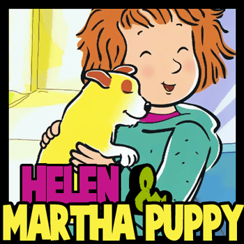 How to Draw Helen and Martha as a Puppy from Marth Speaks