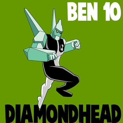 how to draw diamondhead from ben 10 alien force step by step drawing