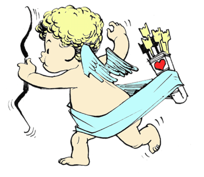 How to Draw Baby Cupid with Love Arrows for Valentines Day