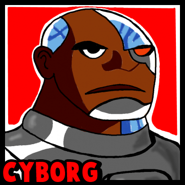 How to Draw Cyborg from Teen Titans with Step by Step Drawing Tutorial