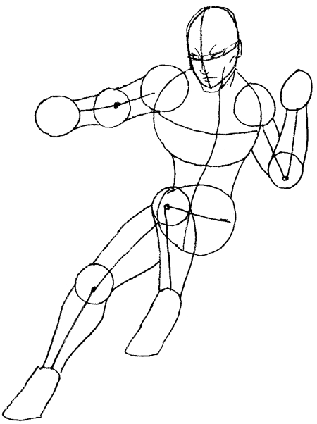 Step 4 : Drawing Daredevil step by step lesson