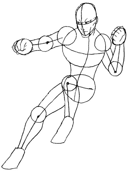Step 5 : Drawing Daredevil step by step lesson