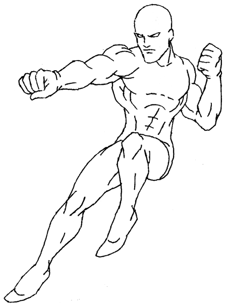 Step 6 : Drawing Daredevil step by step lesson