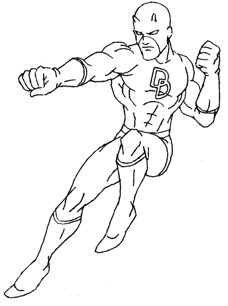 Step 7 : Drawing Daredevil step by step lesson