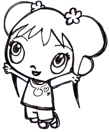 Step 6 : Drawing Ka-Lan from Nick Jr step by step drawing tutorial