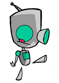How to Draw GIR as Robot Without Dog Costume with Easy Lesson