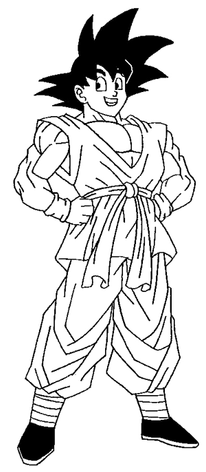 Step 10 : Drawing Son Goku from Dragon Ball Z in Easy Steps Lesson
