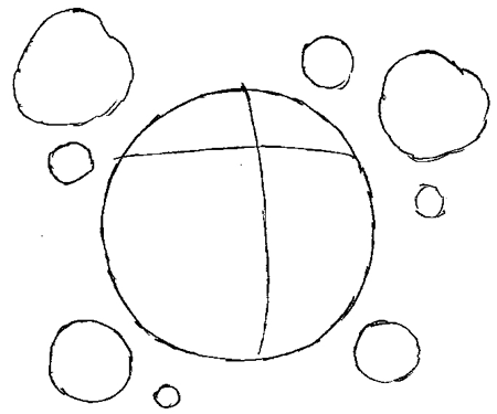 Step 2 : Drawing Koffing from Pokemon in Simple Steps Tutorial