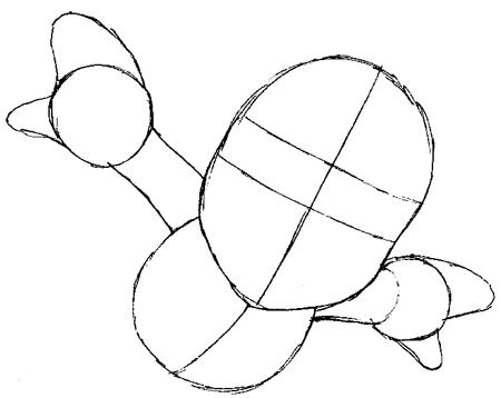 Step 3 : Drawing Mario Step by Step Tutorial