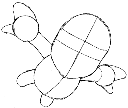 Step 4 : Drawing Mario Step by Step Tutorial