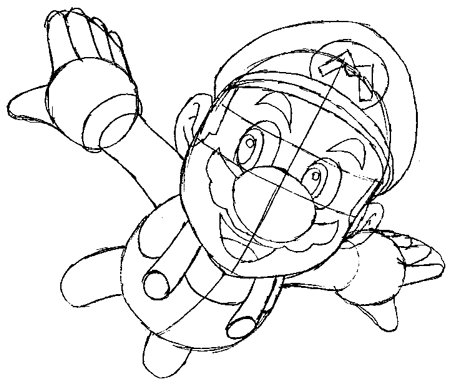 Step 7 : Drawing Mario Step by Step Tutorial