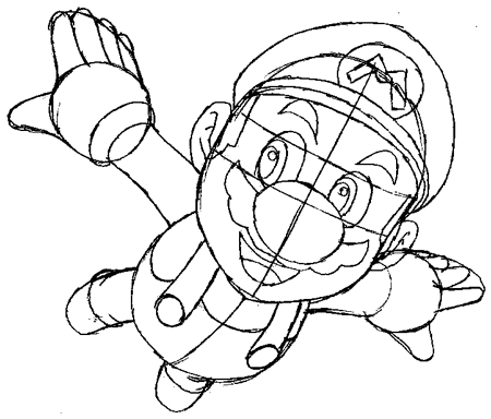 Step 8 : Drawing Mario Step by Step Tutorial