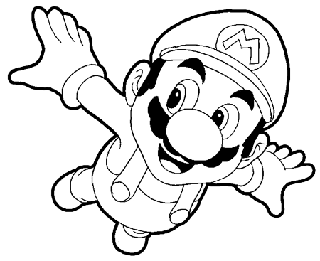 How to Draw Mario Flying from Super Mario Galaxy Drawing Tutorial