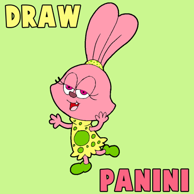 How to Draw Panini from Chowder with Simple Step by Step Drawing Tutorial