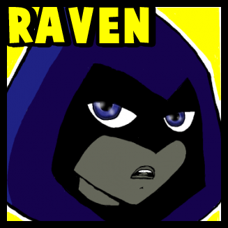 How to Draw Raven from Teen Titans with Easy Step by Step Drawing Tutorial
