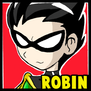 How to Draw Robin from Teen Titans with Easy Step by Step Drawing Tutorial