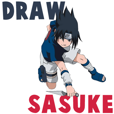 How to Draw Sasuke Uchiha from Naruto in Easy Step by Step Drawing Tutorial
